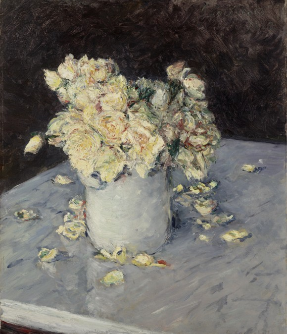 Cailebotte   Nature Morte bloemen rozen rosen 580x674 Gustave Caillebotte in het  Gemeentemuseum Den Haag